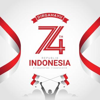 Glückliche indonesien-unabhängigkeitstaggrußkarte