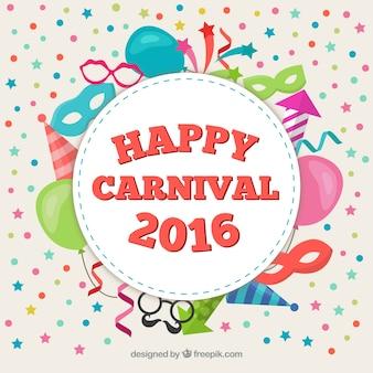 Glückliche karneval 2016 label