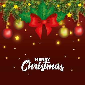 Glückliche karte der frohen weihnachten