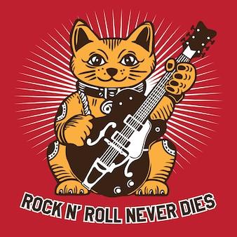 Glückliche katze rockstar