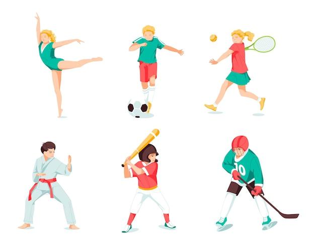 Glückliche kinder, die sportspiel spielen