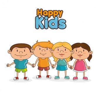 Glückliche kinder entwerfen