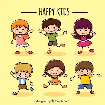 Glückliche kinder kollektion