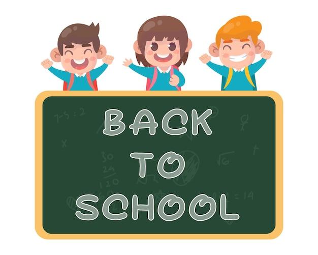 Glückliche kinder zurück zur schule