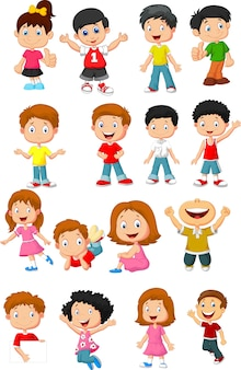 Glückliche kinderkarikatursammlung