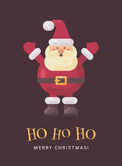 Glückliche lachende weihnachtsmann-weihnachtsgrußkarte
