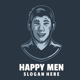 Glückliche männer logo-design-vektor