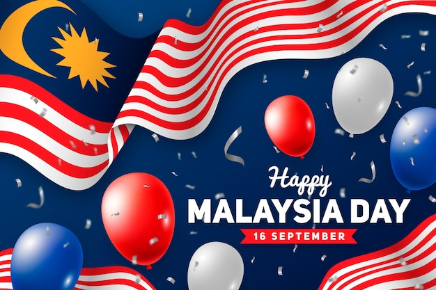 Glückliche malaysia-tagesillustration