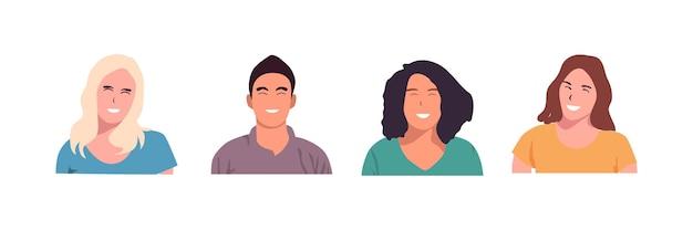 Glückliche menschen-avatar