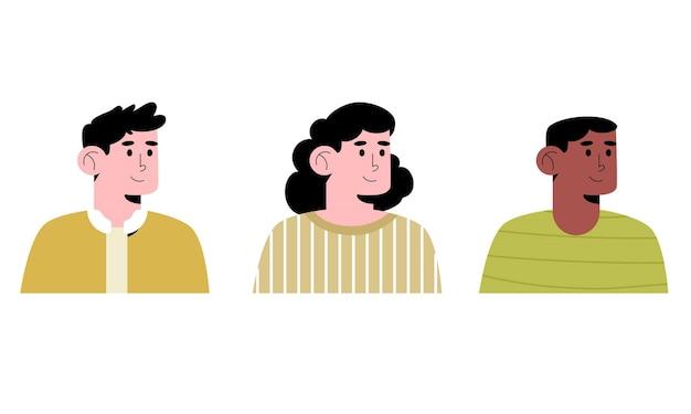 Glückliche menschen avatare