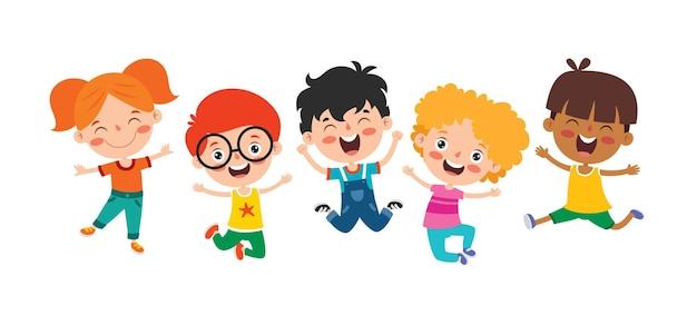 Glückliche multiethnische kinder, die zusammen spielen