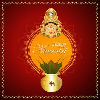 Glückliche navratri indische festivalfeier
