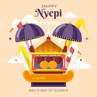 Glückliche nyepi-illustration