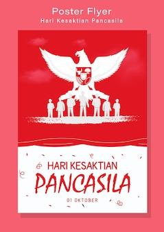 Glückliche pancasila-tagesillustration