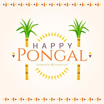 Glückliche pongal cute background