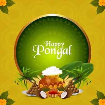Glückliche pongal indische festfeier