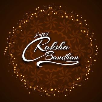 Glückliche raksha bandhan eleganten hintergrund design
