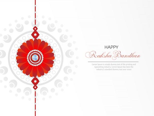 Glückliche raksha bandhan grußkarte