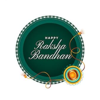 Glückliche raksha bandhan traditionelle festivalkarte