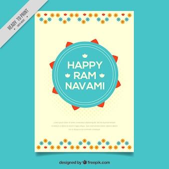 Glückliche ram navami dekorative faltblatt