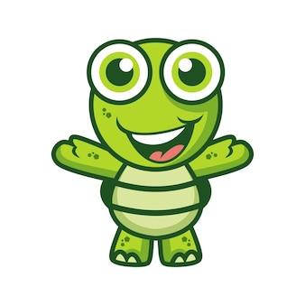 Glückliche schildkröte maskottchen