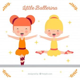 Glückliche schöne ballerinen