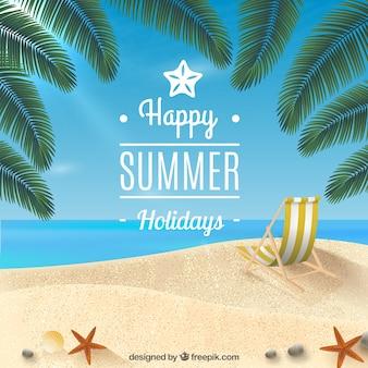 Glückliche sommerferien hintergrund