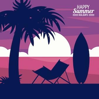 Glückliche sommerferien
