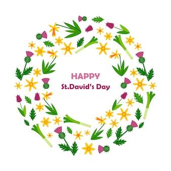 Glückliche st. david's day-karte.