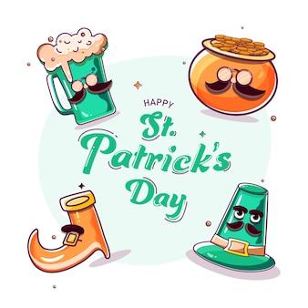 Glückliche st. patrick's day konzept illustration
