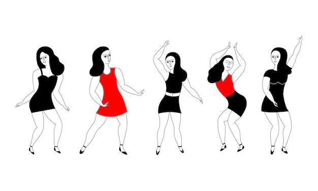 Glückliche tänzerinnen.