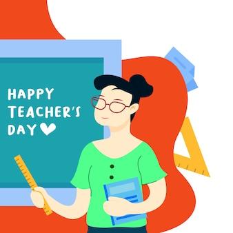 Glückliche tag des lehrers illustration