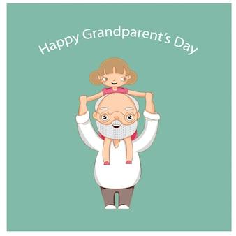 Glückliche tageskarte des großvaters