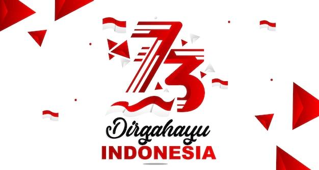 Glückliche unabhängigkeit indonesien