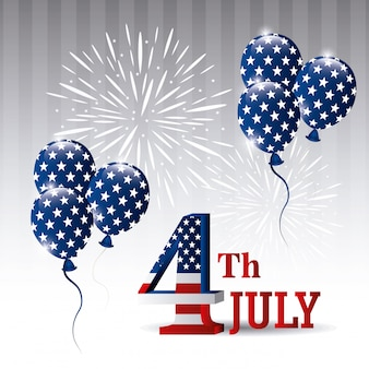 Glückliche unabhängigkeitstaggrußkarte, 4. juli, usa-design
