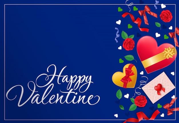 Glückliche valentinsgruß-gruß-karte