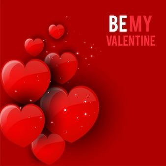 Glückliche valentinsgrußtagesgrußkarte, vektorillustration. schöne liebe. - vektor