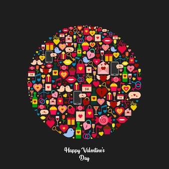 Glückliche valentinstag-illustration