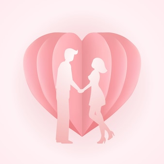Glückliche valentinstag süße illustration.