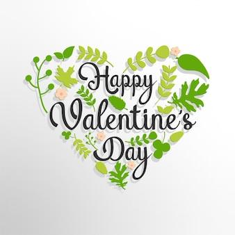 Glückliche valentinstaggrußkarte mit blumenhintergrund