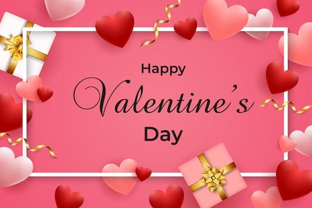 Glückliche valentinstaggrußkarte