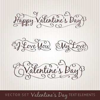 Glückliche valentinstaghandbeschriftung.