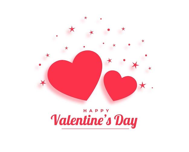 Glückliche valentinstagherzen im flachen stil