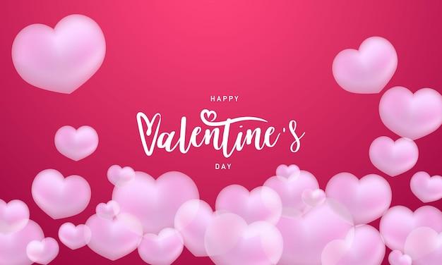 Glückliche valentinstagillustration.