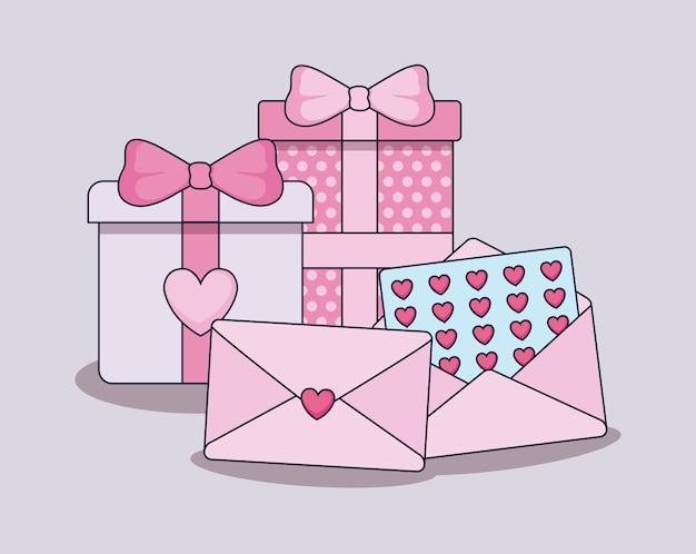 Glückliche valentinstagssatzikonen