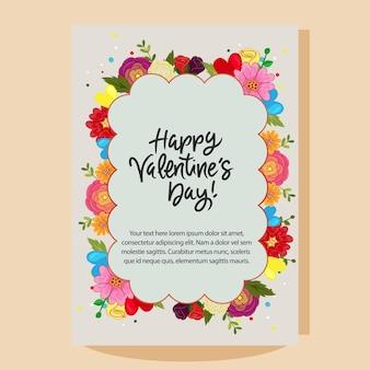 Glückliche valentinstagwolkenformblumenanordnung