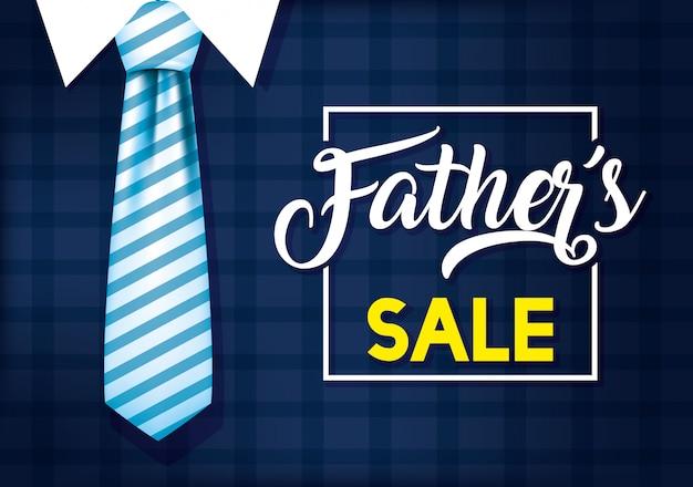 Glückliche vatertagskarte mit elagantem anzug und krawatte
