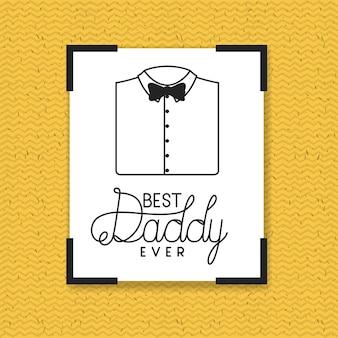 Glückliche vatertagskarte mit elegantem hemd und bowtie