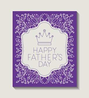 Glückliche vatertagskarte mit königskrone