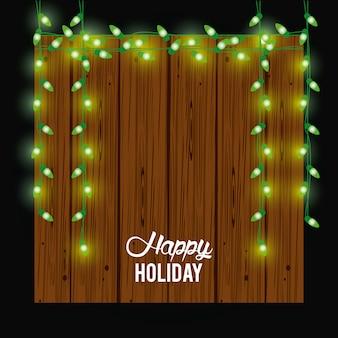 Glückliche weihnachtskarte und dekoration